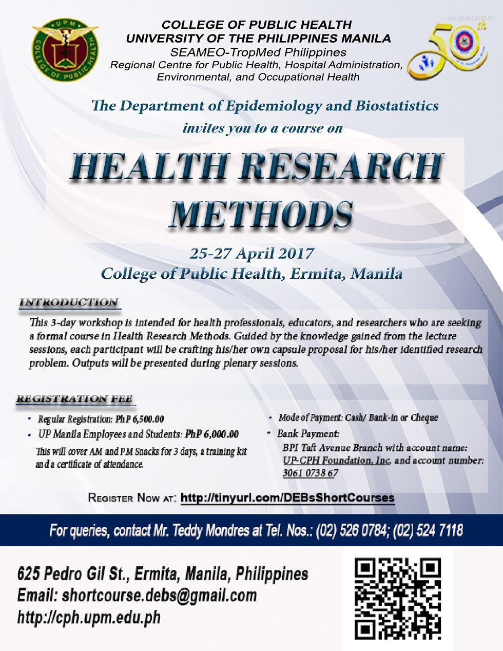 Debs short course offerings college of public health click here for more information sciox Choice Image